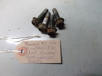 YAMAHA YZF1000 THUNDERACE  LEFT & RIGHT PILLION FOOT HANGER TO FRAME BOLTS #1  (67-B)